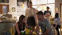 Melissa Lohan, Chloe Brennan, Mark Brennan in Neighbours Episode 8035