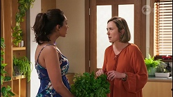 Dipi Rebecchi, Sonya Mitchell in Neighbours Episode 8036