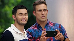 David Tanaka, Aaron Brennan in Neighbours Episode 8038