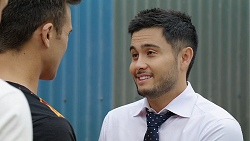 Aaron Brennan, David Tanaka in Neighbours Episode 8038