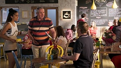 Yashvi Rebecchi, Karl Kennedy, Gary Canning in Neighbours Episode 8039