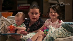 Hugo Somers, Callum Rebecchi, Nell Rebecchi in Neighbours Episode 8044