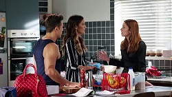 Aaron Brennan, Elly Conway, Melissa Lohan in Neighbours Episode 8045