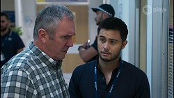 Karl Kennedy, David Tanaka in Neighbours Episode 8054