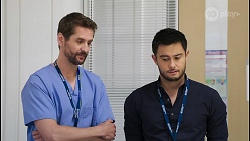Dr Reece Mahoney, David Tanaka in Neighbours Episode 8054