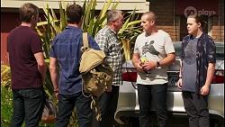 Gary Canning, Shane Rebecchi, Karl Kennedy, Toadie Rebecchi, Callum Rebecchi in Neighbours Episode 8054