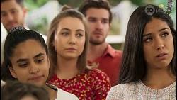 David Tanaka, Kirsha Rebecchi, Piper Willis, Ned Willis, Yashvi Rebecchi in Neighbours Episode 8056