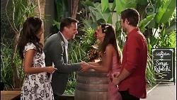 Vanessa Villante, Lucas Fitzgerald, Bea Nilsson, Ned Willis in Neighbours Episode 8056