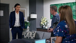 Leo Tanaka, Paul Robinson, Terese Willis in Neighbours Episode 8057