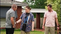 Toadie Rebecchi, Callum Rebecchi, Shane Rebecchi in Neighbours Episode 8058
