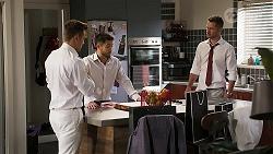 Aaron Brennan, David Tanaka, Mark Brennan in Neighbours Episode 8059