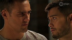 Aaron Brennan, David Tanaka in Neighbours Episode 8059
