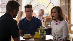 Mark Brennan, Aaron Brennan, Fay Brennan in Neighbours Episode 8064