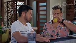 David Tanaka, Aaron Brennan in Neighbours Episode 8065