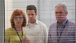 Beverly Robinson, Shaun Watkins, Karl Kennedy in Neighbours Episode 8066