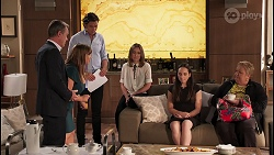 Paul Robinson, Terese Willis, Leo Tanaka, Piper Willis, Imogen Willis, Vera Punt in Neighbours Episode 8066