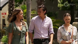 Elly Brennan, Leo Tanaka, Amy Williams in Neighbours Episode 8068