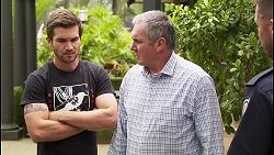 Ned Willis, Karl Kennedy, Mark Brennan in Neighbours Episode 8068