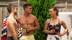 David Tanaka, Aaron Brennan, Amy Williams in Neighbours Episode 8069