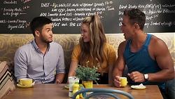 David Tanaka, Chloe Brennan, Aaron Brennan in Neighbours Episode 8070