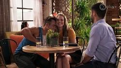 Aaron Brennan, Chloe Brennan, David Tanaka in Neighbours Episode 8070