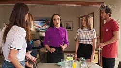 Bea Nilsson, Terese Willis, Imogen Willis, Piper Willis, Ned Willis in Neighbours Episode 8072