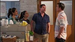 Dipi Rebecchi, Yashvi Rebecchi, Shane Rebecchi, Kyle Canning in Neighbours Episode 8073