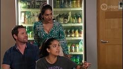 Shane Rebecchi, Dipi Rebecchi, Yashvi Rebecchi in Neighbours Episode 8073