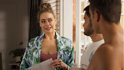 Chloe Brennan, David Tanaka, Aaron Brennan in Neighbours Episode 8074