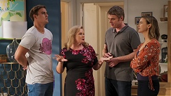 Kyle Canning, Sheila Canning, Gary Canning, Amy Williams in Neighbours Episode 8074