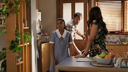 Kirsha Rebecchi, Shane Rebecchi, Dipi Rebecchi in Neighbours Episode 8074