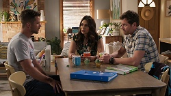 Mark Brennan, Dipi Rebecchi, Shane Rebecchi in Neighbours Episode 8074