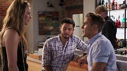 Chloe Brennan, David Tanaka, Aaron Brennan in Neighbours Episode 8075