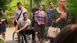 David Tanaka, Finn Kelly, Mark Brennan in Neighbours Episode 8075
