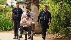 Mark Brennan, David Tanaka, Finn Kelly in Neighbours Episode 8075