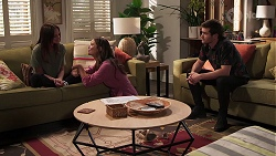 Bea Nilsson, Elly Brennan, Ned Willis in Neighbours Episode 8075