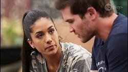 Yashvi Rebecchi, Ned Willis in Neighbours Episode 8076