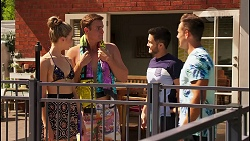 Chloe Brennan, Kyle Canning, David Tanaka, Aaron Brennan in Neighbours Episode 8076