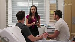 Finn Kelly, Imogen Willis, Shaun Watkins in Neighbours Episode 8077