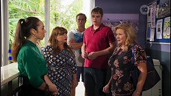 Imogen Willis, Terese Willis, Kyle Canning, Gary Canning, Sheila Canning in Neighbours Episode 8078