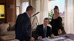 Paul Robinson, Max Walpole, Chloe Brennan in Neighbours Episode 8080