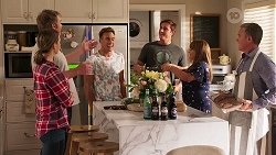 Amy Williams, Gary Canning, Aaron Brennan, Kyle Canning, Terese Willis, Paul Robinson in Neighbours Episode 8082