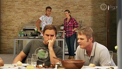 Aaron Brennan, Amy Williams, Kyle Canning, Gary Canning in Neighbours Episode 8082