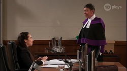 Imogen Willis, Judge Barton in Neighbours Episode 8084