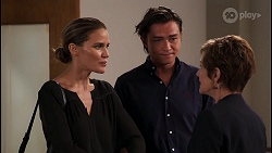 Elly Brennan, Leo Tanaka, Susan Kennedy in Neighbours Episode 8084