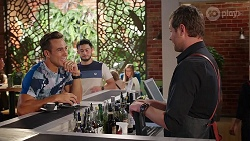 Aaron Brennan, David Tanaka, Shane Rebecchi in Neighbours Episode 8086