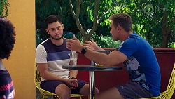 David Tanaka, Aaron Brennan in Neighbours Episode 8086