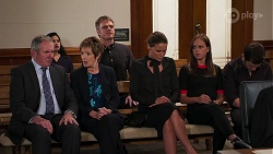 Karl Kennedy, Susan Kennedy, Gary Canning, Elly Brennan, Bea Nilsson, Ned Willis in Neighbours Episode 8087