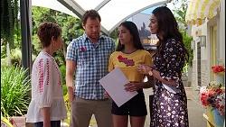 Susan Kennedy, Shane Rebecchi, Yashvi Rebecchi, Dipi Rebecchi in Neighbours Episode 8089