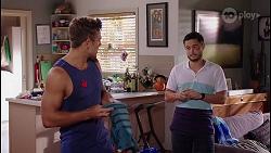 Aaron Brennan, David Tanaka in Neighbours Episode 8089
